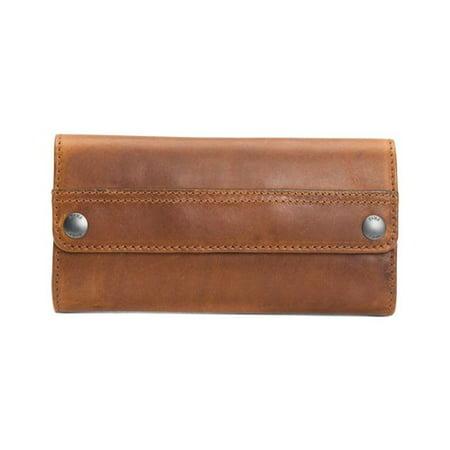 Women's Frye Melissa Double Snap Wallet Cognac OSFA