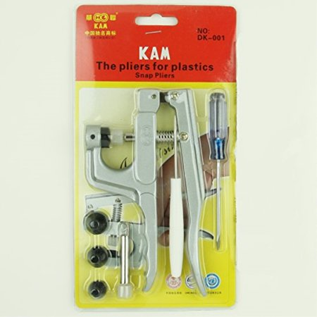 kam snap press plier hand setter tool and 4 dies sizes (t3, t5, t8a and t8b) for kam plastic/resin snaps use to make cloth diapers/bibs/mama pads/pul and (Snap Setter)