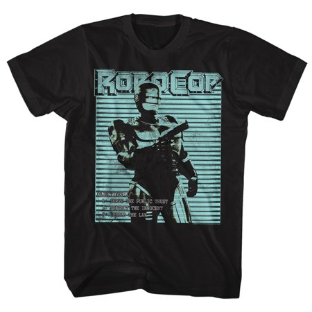 Robocop 1980's Action Crime Cop Movie Cyberpunk Robo Objectives Adult T-Shirt (1980's Movies Halloween Costumes)