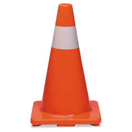 Tatco Traffic Cone, 18h x 10w x 10d, Orange/Silver](Mini Traffic Cones)