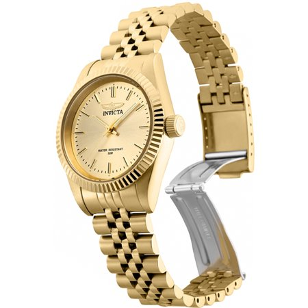 Invicta Women Specialty Champagne Dial Gold Tone Stainless Steel Watch 29411 ()