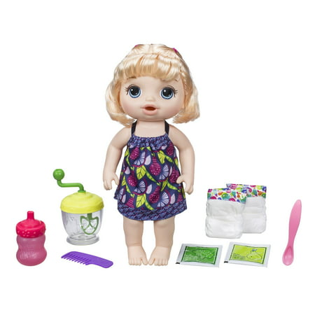 Baby Alive Sweet Spoonfuls Baby (Blonde Straight Hair) - Alive 4 Fashion Halloween