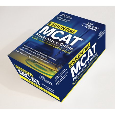 Essential MCAT: Flashcards + Online : Quick Review for Every MCAT Subject - Quick Flash Cards