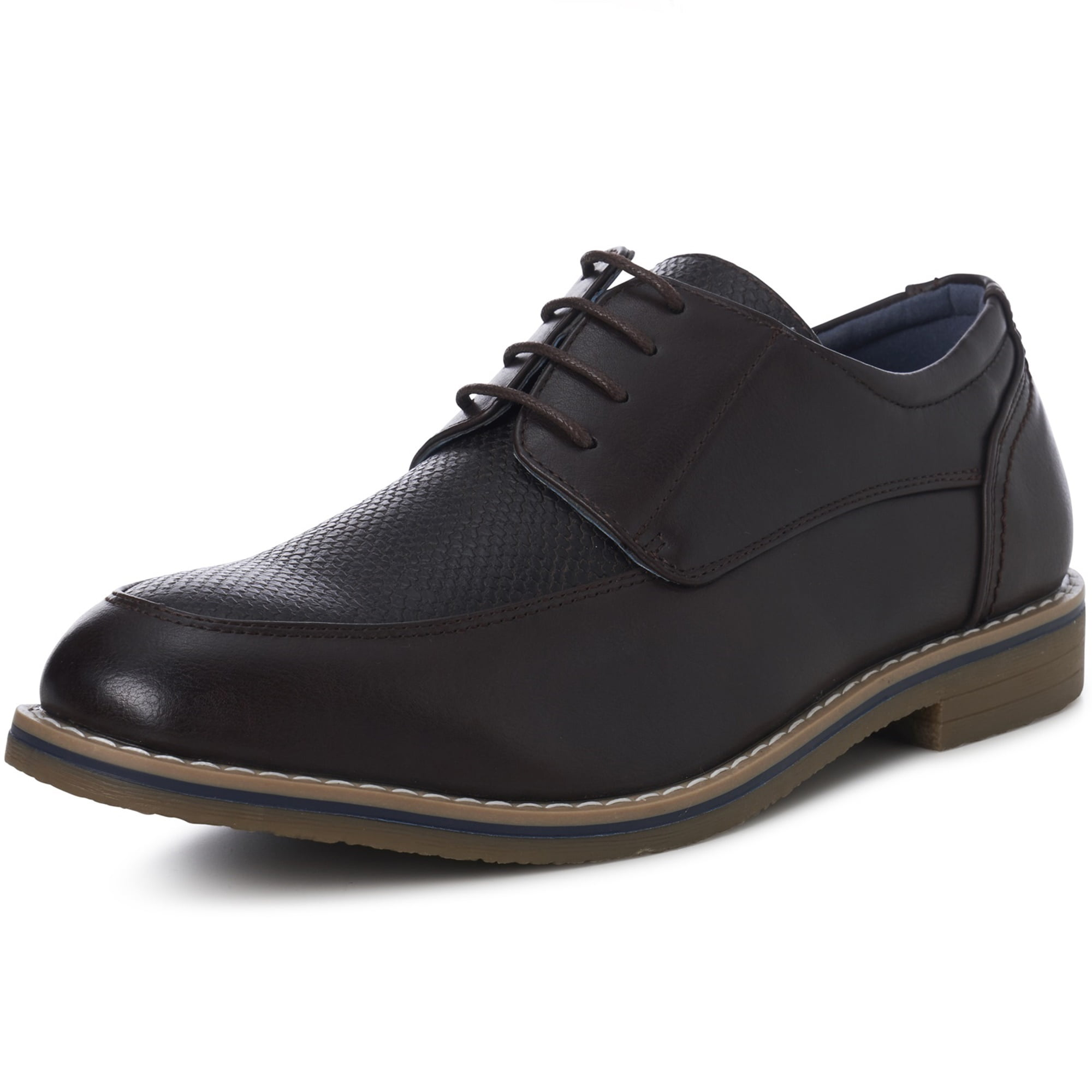Mens Perforated Shoes Lace Up Round Toe Business Oxfords Breathable Loafers