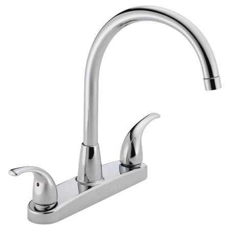 Peerless Tunbridge Two Handle Deck-Mount Kitchen Faucet in Chrome P299568LF