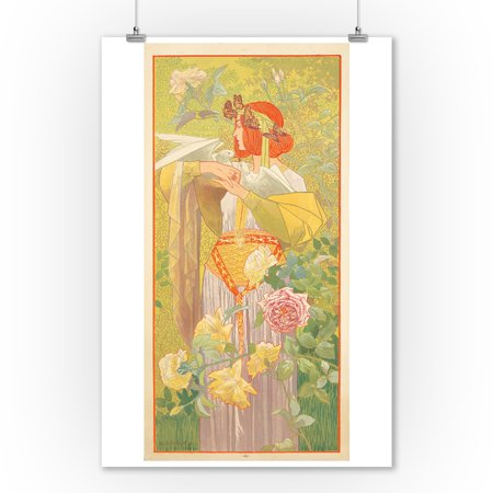 The Four Seasons Vintage Poster (artist: Riquer) Spain c. 1900 (9x12 Art Print, Wall Decor Travel Poster)