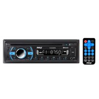PYLE PLCD43BTM - Bluetooth Stereo Receiver [Digital AM/FM Radio System] Wireless Music Streaming | Hands-Free Call Answering | CD Player | MP3/USB/SD/AUX | Single DIN