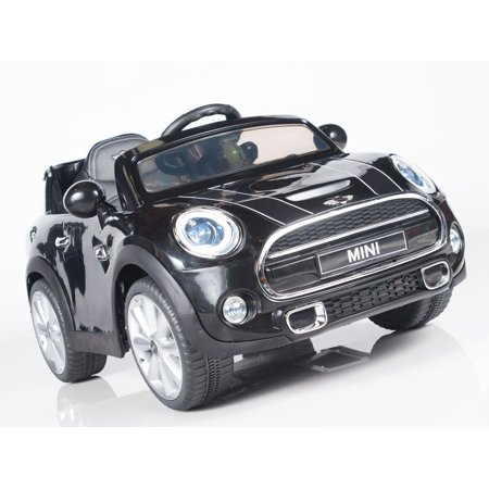 Exclusive Licensed Convertible Cooper 12v Ride on Car, Toy for Kids with Remote Control, Music, Lights, Leather (Best Way To Maintain Leather Car Seats)