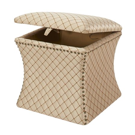 Holly Concaved Storage Ottoman Brown - image 4 of 6