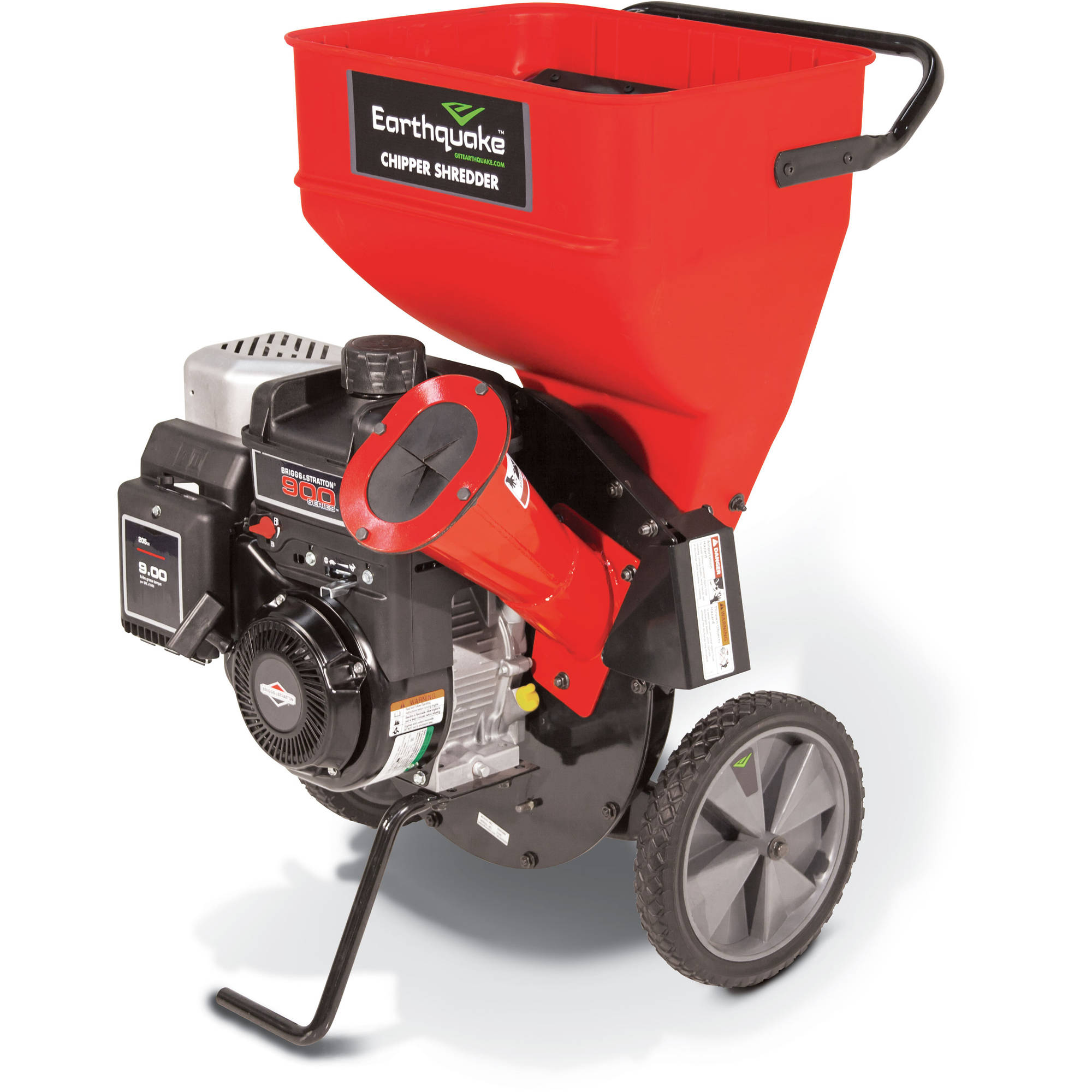 Earthquake Chipper Shredder 206cc Briggs and Stratton Engine, Red