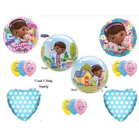 Doc McStuffins Bubble Happy Birthday PARTY Balloons Decorations Supplies by Anagram (Doc Mcstuffin Party Supplies)