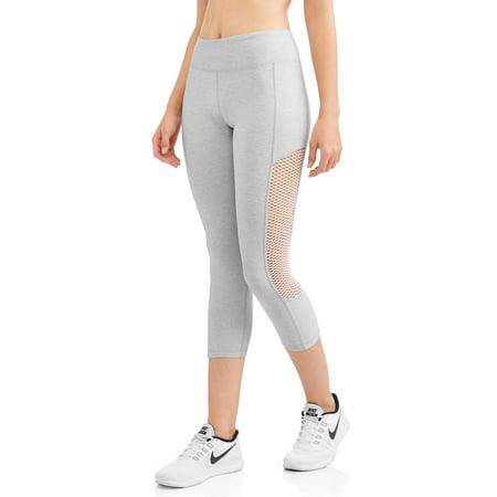 N.y.l. Sport - Women s Active Wide Mesh Insert Performance Capri ... d168d31d9