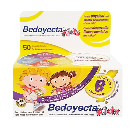 Bedoyecta Kids Dietary Supplement Tablets, 50 Count