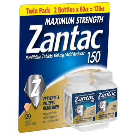 Cell Strength 120 Tabs (Zantac 150mg Maximum Strength, 120 Ct )