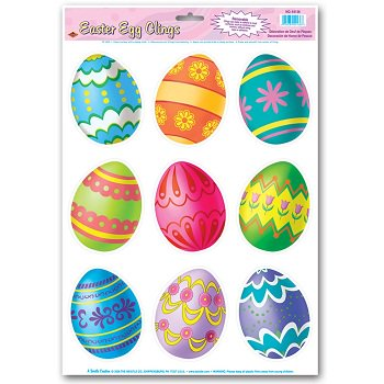 Easter Egg Clings Party Accessory - Halloween Silhouette Window Clings