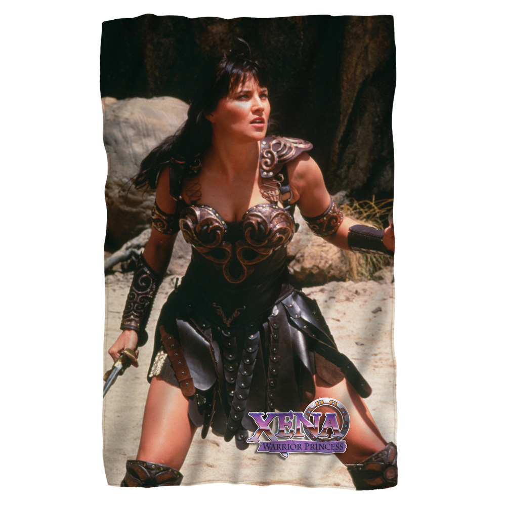 Xena Warrior Fleece Blanket White 48X80