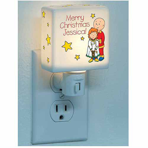 Personalized Caillou & Rosie Merry Christmas Nightlight