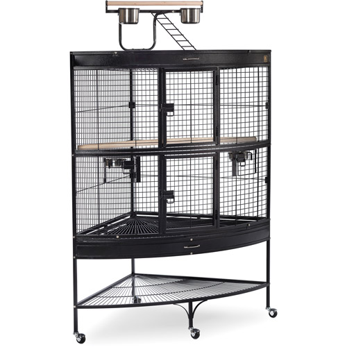 Prevue Pet Products Large Corner Birdcage, Blacker Hammertone