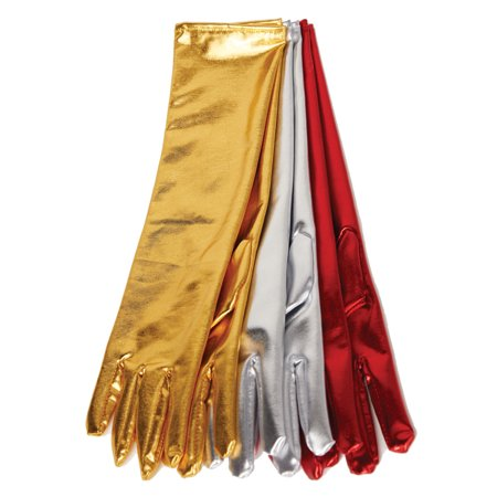 Long Metallic Womens Adult Flapper Diva Costume Accessory Gloves](Flapper Style Accessories)