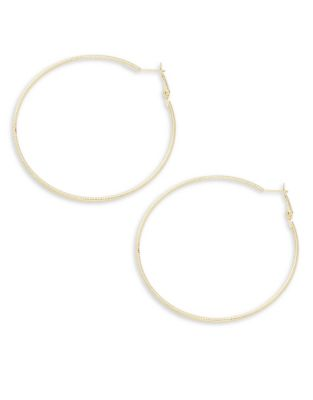 Sandblast Hoop Earrings