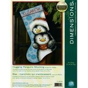 "Dimensions 16"" Stocking Needlepoint Kit, Hugging Penguins 71-09144"