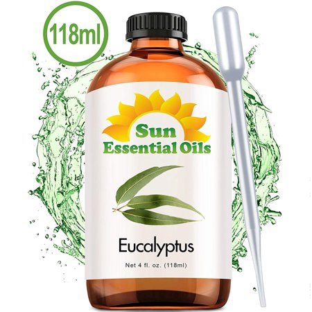 Eucalyptus (Large 4 Ounce) Best Essential Oil (Best Muscle Relaxing Essential Oils)