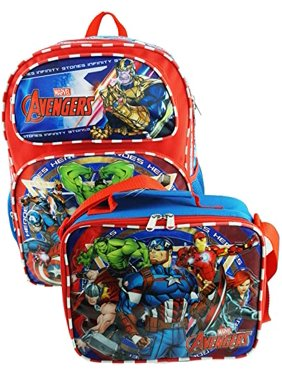 Marvel - Avengers Deluxe 16 Inch Large Backpack and Lunch Box Set - Peace Keeper