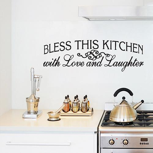 Sweetums Bless This Kitchen Wall Decal (50-inch x  16-inch)
