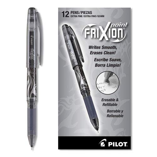 Pilot Frixion Erasable Rollerball Pen Black Ink