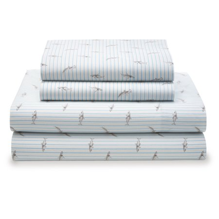 Tommy Hilfiger Sharks Stripe Sheet - Tommy Hilfiger Cotton Flat Sheet