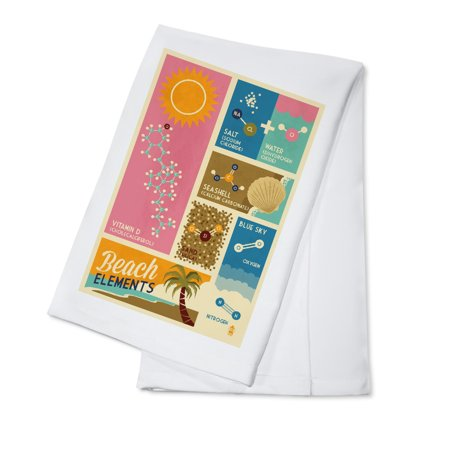 Chemical Beach Elements - Lantern Press Artwork (100% Cotton Kitchen Towel)