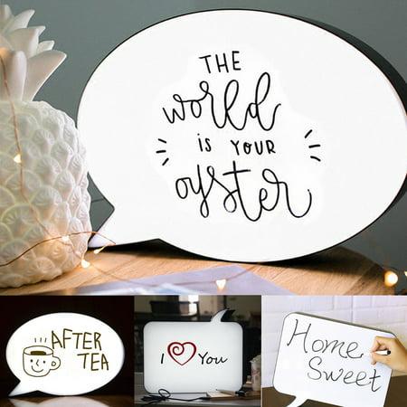 Meigar A4 LED Light Up Box Speech Bubble Handwriting Message Sign Wedding Party Decor](Message For Wedding)