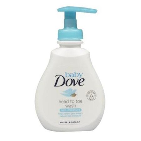 DDI 2326853 Dove Head to Toe Rich Moisture Baby Wash - Fragrance Free, White & Blue - Case of 6