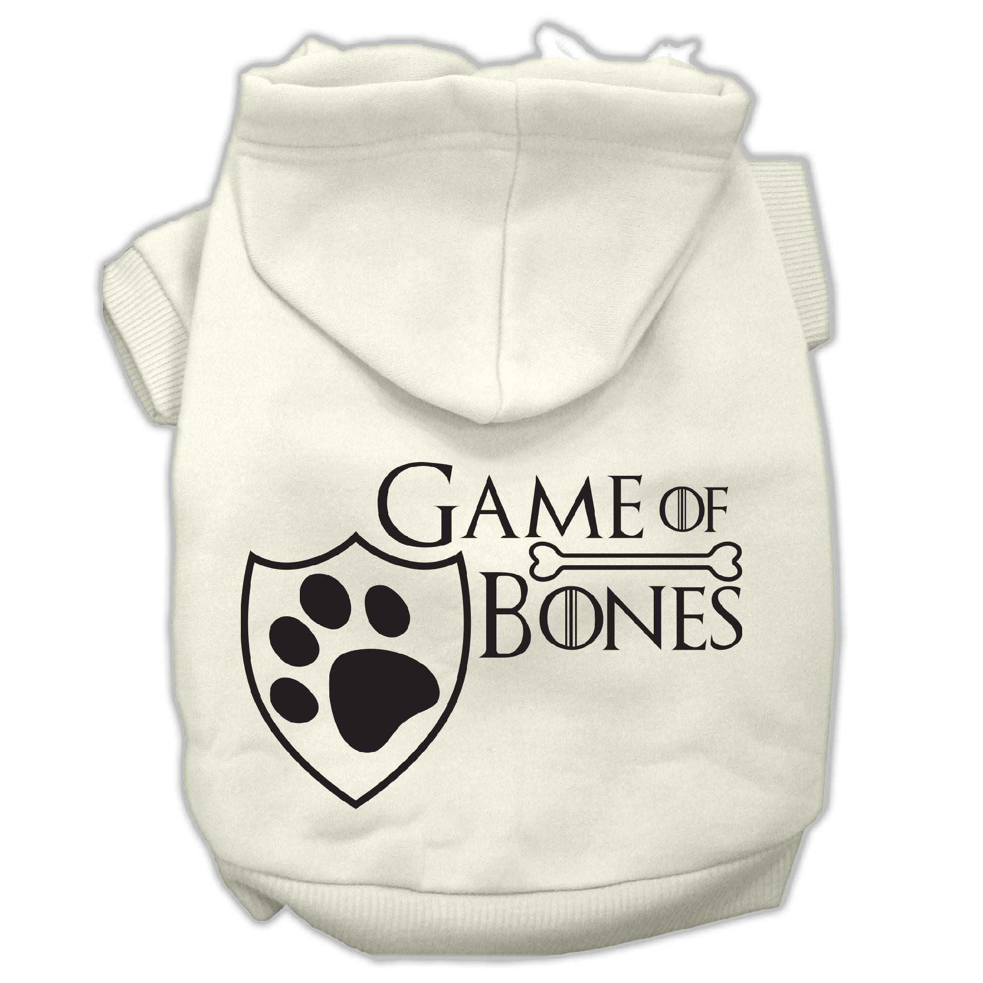 Game of Bones Screenprint Dog Hoodie Cream M (12)