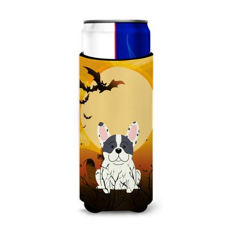Halloween French Bulldog Piebald Michelob Ultra Hugger for slim cans - Anti Halloween France