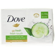 Dove Go Fresh Beauty Bar Soap, Cool Moisture-Fresh Touch, 100 G / 3.5 Oz (Pack of 12)