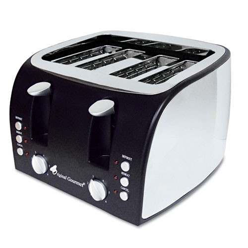 Original Gourmet Food Co. Coffee Pro 4-Slice Multi-Function Toaster with Adjustable Slot