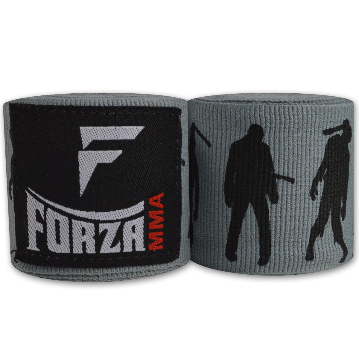 """Forza Sports 180"""" Mexican Style Boxing and MMA Handwraps - Zombie Gray"""