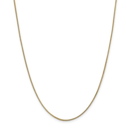 14K Yellow Gold .9mm Solid Polished Franco Chain 30 Inch - image 5 de 5