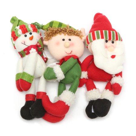 Christmas Wine Bottle Cover Ornament  Santa Snowman Elf Xmas Party Decor Gifts