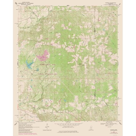 Topographic Map Mississippi.Topographic Map Pinebur Mississippi Quad Usgs 1969 23 X 28 50