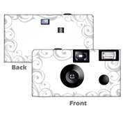 Elegant Wedding In Silver Disposable Cameras 5 Pack Free Shipping