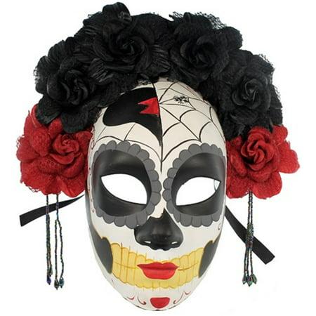 détails pour magasin thésaurisation comme une denrée rare La Catrina Day of The Dead Mask