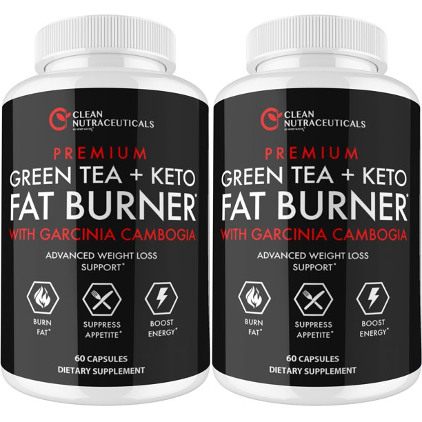 Green Tea Extract Capsules EGCG - Garcinia Cambogia, Raspberry Ketones, Green Tea Ultra Fat Burner Pills - Powerful Metabolism Booster for Weight Loss, Energy and Heart Health - 2 Bottles