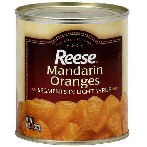 Reese Mandarin Oranges Segments In Light Syrup, 11 oz (Pack of 24)