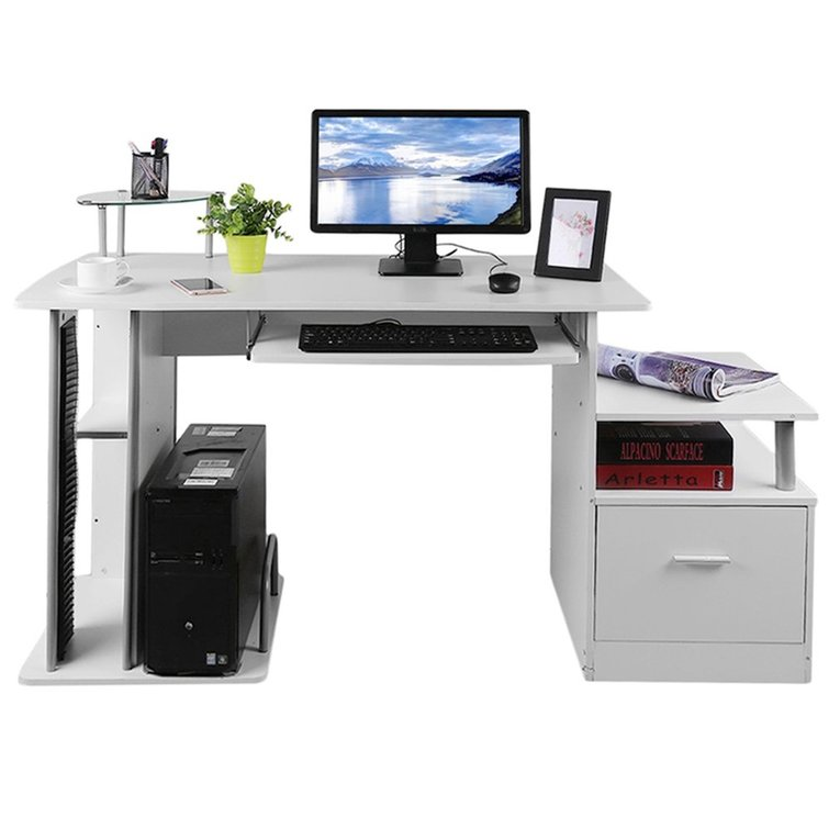 computer pc table home study office table work desk workstation corner desk furniture with keyboard tray