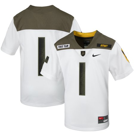 #1 Army Black Knights Nike Youth 1st Cavalry Division Limited Edition Replica Jersey - White Nike Air Limited Edition