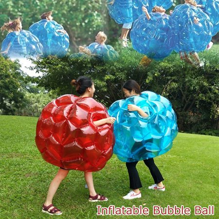 23.62 Inch Inflatable Body Wearable Bubble Bumper Ball 60CM Portable Foldable Outdoor Amusement Park Beach Backyard Kids Fun Game Toy ()