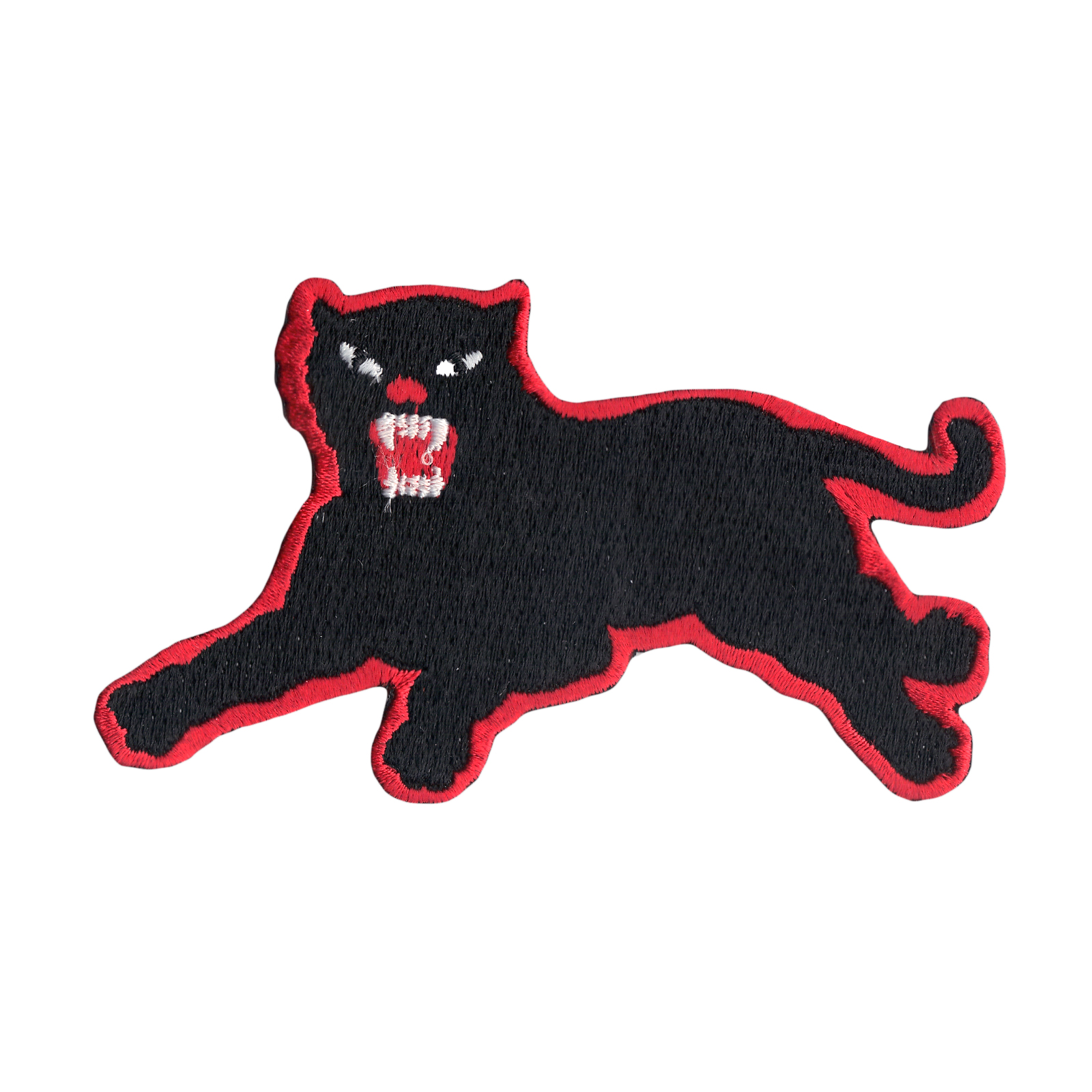 Panther Red Border Iron On Applique Patch