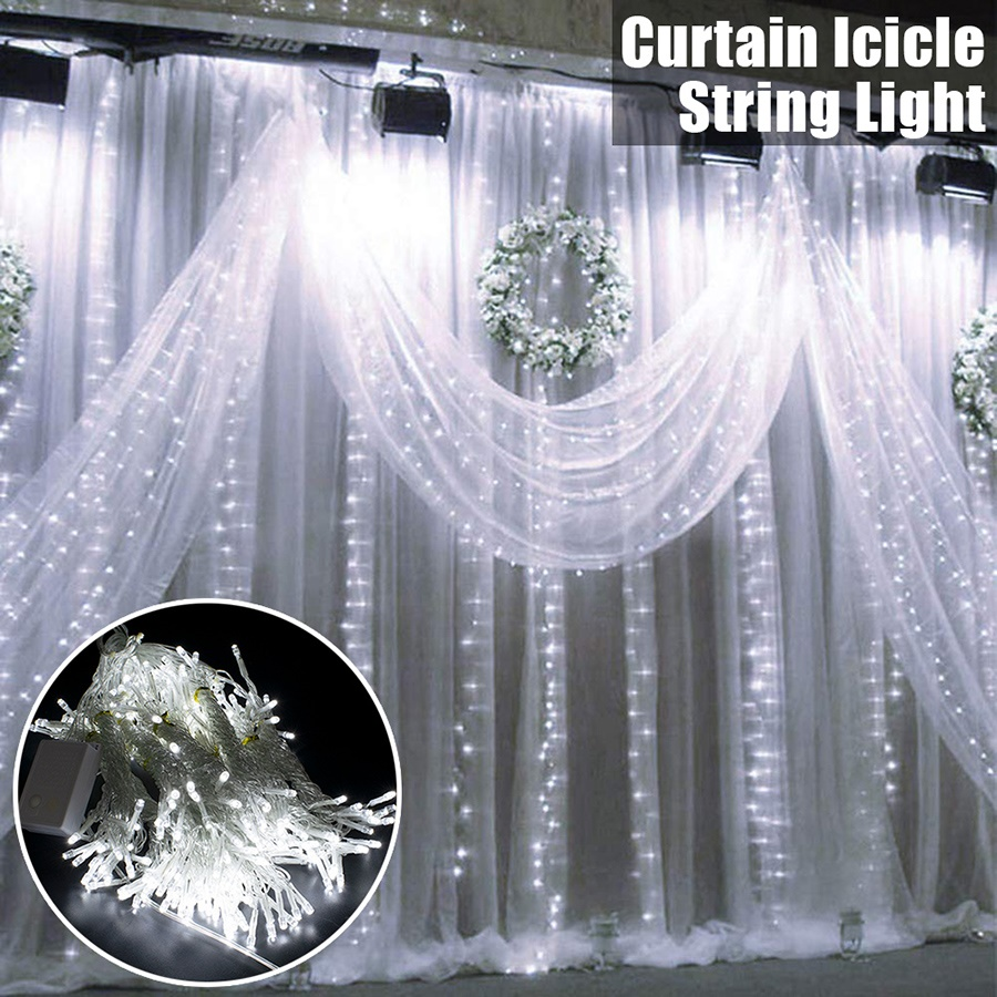 20.20 x 20.20ft Led Rope Lights, 2000 LEd Party Curtain String Lights w/20  Modes, Room Decor for Teen Girls, Wedding Decorations, Christmas Fairy  String ...